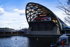 Big Easy, Canary Wharf (London Less Travelled) Tags: uk unitedkingdom britain england london city urban canarywharf docklands bigeasy restaurant dock water
