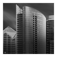 San Diego architecture abstract (Hamilton Ross) Tags: san diego cali california architecture bw downtown fine art