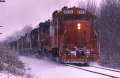 Coal in the snow (ujka4) Tags: chicagocentralpacific ccp chicagocentral cc gp10 8055 addison illinois il coaltrain snow