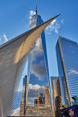 Reflections (AgarwalArun) Tags: newyork skyline landscape skyscrapers reflections building structures newyorkskyline ny oneworldtradecenter lowermanhatan manhattan relfections