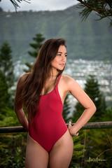 Olina @ Wa'ahila Ridge 01 (JUNEAU BISCUITS) Tags: portrait portraiture hapa hapagirl beauty glamour swimwear swimsuit onepiece nikon model femalemodel