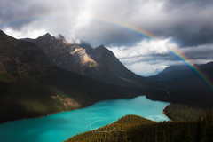 """Passages nuageux"" (Francis Gagnon - www.francis-gagnon.com) Tags: banffnationalpark banff blue canada lake landscape mountain park paysage peyto peytolake rainbow"