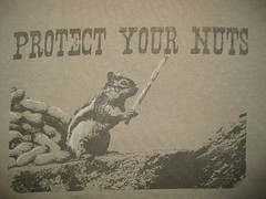 Protect Your Nuts T-Shirt (wpgtshirtguy) Tags: protect nuts chipmunk squirrel tshirt shirt funny fun laugh laughing joke joking wit witty amusing comic comical