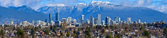 When the clouds lift (James_D_Images) Tags: panorama skyline city sky blue clear clouds mountains shore north houses towers buildings skyscrapers britishcolumbia vancouver snow peaks trees