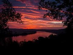 Red Sky at Morning..... (ridgewalker51) Tags: magnetindiana sun nikon18140 nikon sky clouds morning sunrise dawn ohioriver indiana