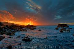 Titahi Bay, Sunset (stewartbaird) Tags: beach sxbaird landscape stewartbaird sea rocks water sundown clouds seascape sunset newzealand wwwstewartbairdcom titahibay