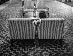 en passant par KL (Jack_from_Paris) Tags: p1000173bw panasonic dmcgx8 micro 43 pancake14mmf25asph pancake raw mode dng lightroom rangefinder télémétrique capture nx2 lr monochrom noiretblanc bw wide angle kl kuala lampur street hôtel tapis stripes regard couch waisting time