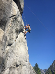 First Climb (Katelynn Manz) Tags: yosemite valley national park granite sierra nevada mountain range nevadas montanas montagnes miwok climbing climb sport climber highknee rock cliff cliffs california californian