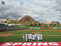 Think Spring (CODA: MARINE 475) Tags: baseball cal california golden bears college uniform sports team dugout net stadium spring