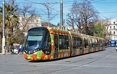Montpellier, Place Auguste Gibert 12.02.2019 (The STB) Tags: montpellier tram tramway streetcar strassenbahn strasenbahn publictransport citytransport öpnv transportpublic france french