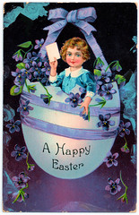 Greetings Card - Easter in 1908. And Votes For Women. (pepandtim) Tags: postcard old early nostalgia nostalgic greetings card easter votes women coloured enamelette series bg gb printed berlin littlehampton 18041908 1908 33gce72 minnie mills brixton road london success aunty phoebe roberta 1870 suffrage leather goods bags belts 1916 1928 eric spear coronation street croydon southampton 1966