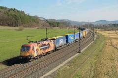 TX Logistik 182 572, Harrbach (Sander Brands) Tags: trein treni train treno trenuri trenuro traktion taurus txl tx logistik maintal maindal nikon d7000 klv t3000 t2000 dsv dhl lubeck 182 572 brennen