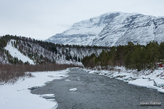 Skibotn River (kevin-palmer) Tags: norway scandinavianmountains arctic march winter snow snowy nikond750 ivgojohka river water tamron2470mmf28 flowing cloudy overcast norwegian skibotn tromscounty forest