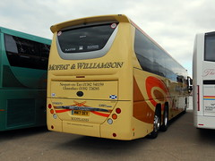 Plaxton Panther 3 rear view (miledorcha) Tags: mw moffat williamson stfort gauldry fife scotland rear end view aspect plaxton panther 3 volvo b11r b11rt tri axle three luxury travel tour tours touring coach coaches mw17dev psv pcv uk rally 2017 blackpool exhibit entrant