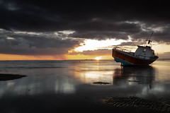 Last  Light (daveknight1946) Tags: essex thorpebay southend riverthames clouds reflection