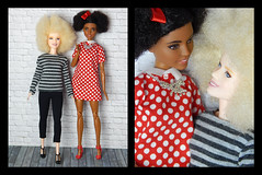 Tag game Last doll in 2018 and first doll in 2019 (Levitation_inc.) Tags: tag game fashion doll dolls barbie handmade outfit made move mtm m2m fashionista afro
