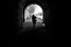 vers-la-lumiere to the light Paris (laurent.triboulois) Tags: pont woman girl blackandwhite paris city villeseine bord