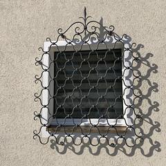 """doppelt genäht hält besser"" (Rosmarie Voegtli) Tags: light shadows window blinds wall sooc iphone odc ourdailychallenge metaphor handcraft art work"