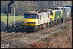Freightliner - 90043+90048 (Tf91) Tags: rail railway freight loco locomotive freightliner class90 90043 9008 4m27 coatbridge daventry moore