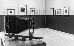 Brett Weston's Camera (HubbleColor {Zolt}) Tags: newfields galleryplace brettweston camera indianapolis indiana gallery blackwhite unitedstatesofamerica us