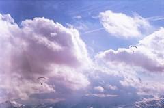 Cotton candy (Tamar Burduli) Tags: tamarburduli 35mm nature sky film analog skyscape clouds cloudporn sun light paragliding flying mountains mountainscape gudauri travel georgia pink pinksky pinkclouds blue