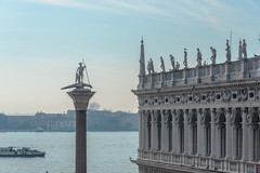 St Theodore Watched Over By Pagan Gods (Gerry Lynch/林奇格里) Tags: outdoor boats canal canaledicannaregio italy museum stmarkssquarevenice statuary vaporetto venice exif:focallength=120mm exif:isospeed=200 exif:lens=2401200mmf40 exif:make=nikoncorporation exif:aperture=ƒ90 exif:model=nikond750 camera:model=nikond750 camera:make=nikoncorporation