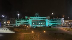Dublin Airpprt - Former Terminal Building Gone Green - Saint Patrick's Day - March 17, 2019 (firehouse.ie) Tags: aerodrome illumination illuminated nationalholiday eire patty'sday paddy'sday dublin ireland 2019 saintpatrick'sday march17 green terminal buildings building flughafen aeropuerto airports airport