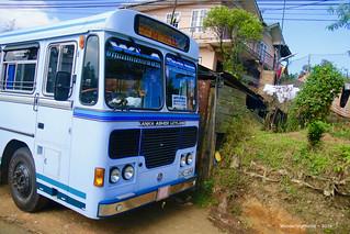 Front of a Bkue Lanka-Ashok-Leyland Bus - Nuwara Eliya Sri Lanka