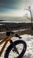 Superior View (wa2wider) Tags: salsa mukluk fat bike fatty singletrack trail snowshoe wawa ontariom michipicoten river lake superior ontario