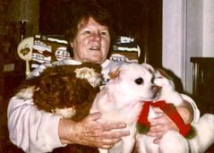 MaryAnn Sarzinsky & Honey Bun (nomad7674) Tags: maryannsarzynski maryann mary ann sarzynski woman honeybun honey bun dog christmas puppy friend