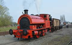 At the Chasewater Railway (2) (lewispix) Tags: bagnall 040st 284246 steam locomotive chasewater