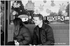 Lovers - Blundell XT6758e (Harris Hui (in search of light)) Tags: harrishui fujixt1 digitalmirrorlesscamera fuji fujifilm vancouver richmond bc canada vancouverdslrshooter mirrorless fujixambassador xt1 fujixcamera fujixseries fujix fujixf35mmf2 fujiprimelens fixedlens standardlens lovers bw blackwhite monochrome incamerabw filmsimulation couple pair sign