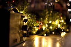 Radio days (jimiliop) Tags: radio lights night decoration bokeh buttons old retro antique focus reflection