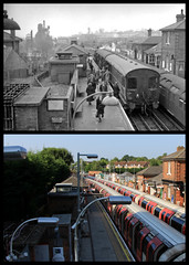 Epping station, Station Road, Epping (Tetramesh) Tags: tetramesh london england britain greatbritain gb unitedkingdom uk localhistory nowandthen thenandnow pastandpresent oldlondon lostlondon presentandpast londonpastandpresent londonnowandthen londonthenandnow londonpast socialhistory uklocalhistory londonlocalhistory transporthistory londonstransportpastandpresent londonstransportnowandthen londonstransportthenandnow londonunderground tfl londontransport tube thetube metro epping stationroad eppingstation eppingstationtn greateasternrailway benbrooksbank inchmole londonandnortheasternrailway centralline essex 24thapril 30thseptember cm16 cm164hw eppingongarrailwaytn