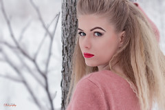 (Øyvind Bjerkholt (Thanks for 69 million+ views)) Tags: portrait fashion beauty blonde beautiful gorgeous pretty woman girl female she winter cold snow classy feminine elegance outdoors 50mm dof norway