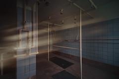 Wellness sunday (michael_hamburg69) Tags: lostplace offthemap abandonedplace urbanexploration urbex phototourmit3daybeard3tagebart sanatorium dusche shower groupshower fliesen kacheln tiles blau blue blaugekachelt hellblau