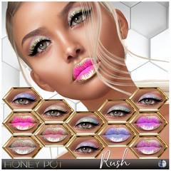 HoneyPot GENUS Rush Collection (honeypot.beauty) Tags: secondlife gaming avatar genus mesh bento appliers fashion beauty makeup cosmetics metallic ombre lips eyes lipstick eyeshadow