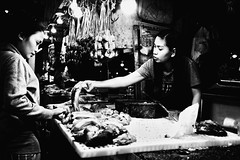 Longanisa (Meljoe San Diego) Tags: meljoesandiego fuji fujifilm x100f market meat candid monochrome philippines streetphotography