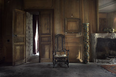 majestic (andre govia.) Tags: derelict manor mansion decay decayed dead decaying decayedbuildings demo wood panel chair urbex urbanexploration ue abandoned