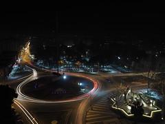 Turning lights (1deabbas) Tags: night livecomp light traffic cars city road olympus omd nightshot longexposure slowshutter nightlights