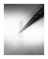 April Haze (TS446Photo) Tags: nikon zeiss bridge lisboa longexposure fineart fog blackandwhite monochrome