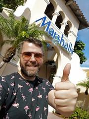 Happy Shopper (Toni Kaarttinen) Tags: usa unitedstates florida wpb america lakeworth lw palmbeachcounty man guy beard bear selfie hairy scruff marshalls shopping