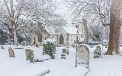 Snow go in the Graveyard (yabberdab) Tags: snow church winter grave stmarys harefield