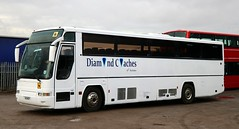 Diamond Coaches, Rushden, Northamptonshire Volvo H16 NCP at Knuston Home Farm. (Gobbiner) Tags: excalibur b10m62 diamondcoaches h16ncp rushden oxfordbuscompany r5oxf plaxton dodsworths r810nud volvo 5184mm