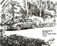 nissan (sylvain.cnudde) Tags: nissan nissansentra car japanesecar usk sketch urbansketch