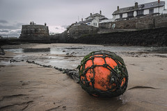 The Buoy In Bude (NVOXVII) Tags: bude beach cornwall buoy moody atmospheric sand canon nautical dof depthoffield