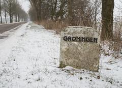 Gemeentegrens (Jeroen Hillenga) Tags: groningen grens gemeentegrens winter sneeuw netherlands nederland wolddijk