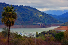 Bidwell_Bar_Bridge_01 (DonBantumPhotography.com) Tags: landscapes water orovilledam bidwellbarbridge hyw162 houseboats bridge donbantumcom donbantumphotographycom trees forest mountains river featherriver