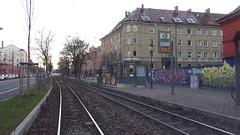 Straßenbahn Linie 2 rückwärts (Sanseira) Tags: augsburg strasenbahn l2 rückwärts rotes tor univiertel video movie umgekehrt reverse backwards