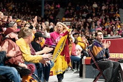 Fans cheer on the Minnesota Golden Gophers Women's Basketball at Williams Arena (Lorie Shaull) Tags: womensbasketball gophers gopherswomensbasketball goldengophers williamsarena minnesota basketball